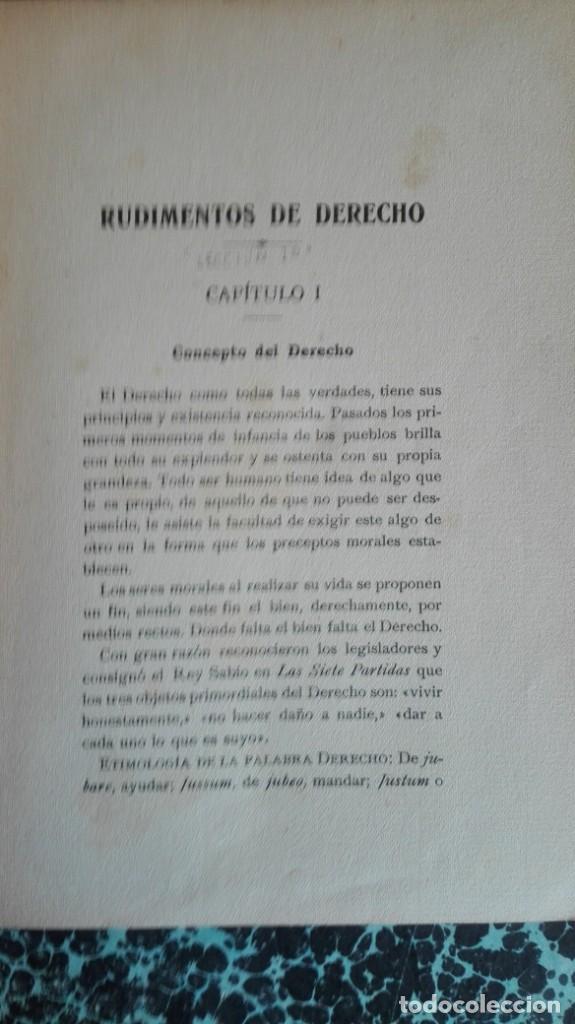 Libros antiguos: Rudimentos de derecho 1916 Fernando Alonso y Zegri - Foto 3 - 194862171
