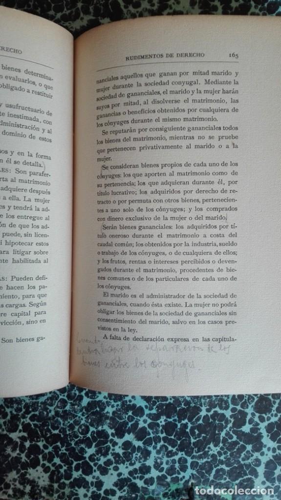 Libros antiguos: Rudimentos de derecho 1916 Fernando Alonso y Zegri - Foto 10 - 194862171