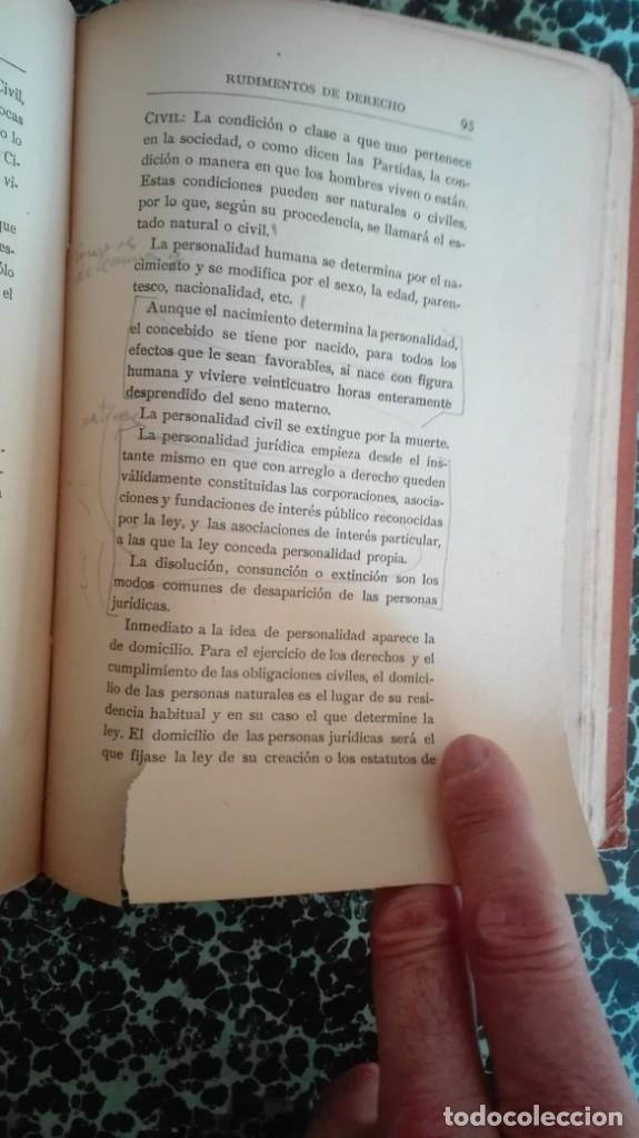 Libros antiguos: Rudimentos de derecho 1916 Fernando Alonso y Zegri - Foto 11 - 194862171