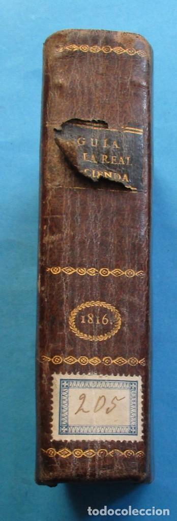 GUIA DE LA HACIENDA PÚBLICA DE ESPAÑA AÑO 1816.ALEJANDRO ATANASIO JARAMILLO.PIELXVI+. 94+288+119 PÁG (Libros Antiguos, Raros y Curiosos - Ciencias, Manuales y Oficios - Derecho, Economía y Comercio)
