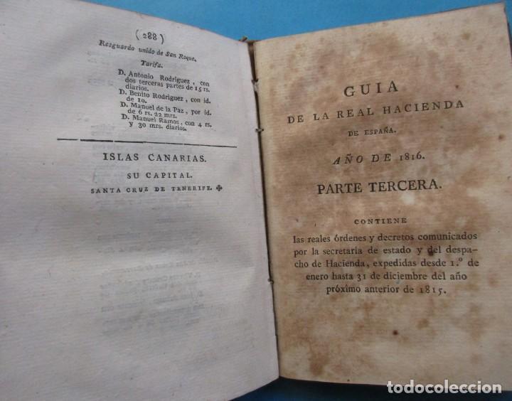 Libros antiguos: GUIA DE LA HACIENDA PÚBLICA DE ESPAÑA AÑO 1816.ALEJANDRO ATANASIO JARAMILLO.PIELxvi+. 94+288+119 PÁG - Foto 5 - 194862570