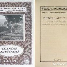 """Libros antiguos: PONS, DEMÓFILO. CUENTAS AJUSTADAS. 1923 (""""CATECISMO DEL AGRICULTOR Y DEL GANADERO""""). Lote 195170065"""