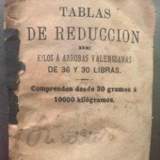 Libros antiguos: VALENCIA S. XIX. TABLA DE REDUCCIÓN DE KILOS A ARROBAS VALENCIANAS. Lote 195216136