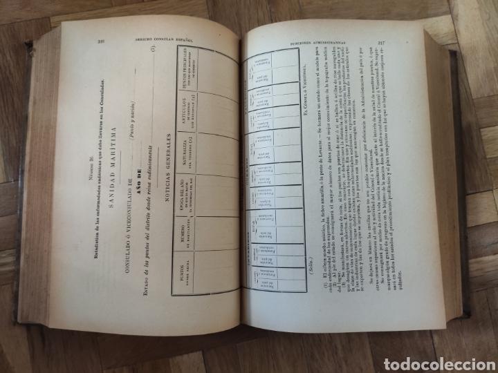 Libros antiguos: Derecho Consular Español. Miguel Maluquer. 1899 - Foto 5 - 195281191