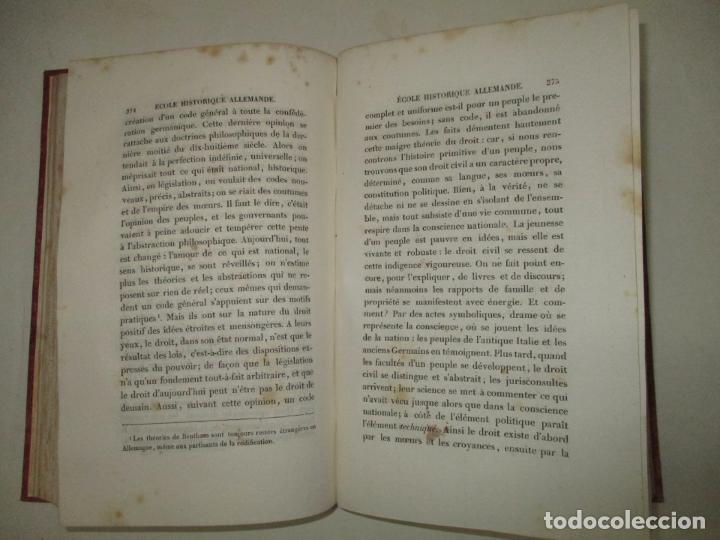 Libros antiguos: INTRODUCTION GÉNÉRALE A LHISTOIRE DU DROIT. LERMINIER, E. 1835. - Foto 4 - 195281200