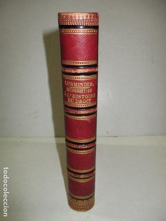 INTRODUCTION GÉNÉRALE A L'HISTOIRE DU DROIT. LERMINIER, E. 1835. (Libros Antiguos, Raros y Curiosos - Ciencias, Manuales y Oficios - Derecho, Economía y Comercio)