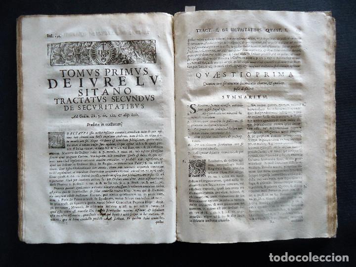Libros antiguos: PORTUGAL.COIMBRA.DE IVRE LVSITANO TOMVS PRIMVS IN TRES..MATHEO HOMEM LEITAM OLIM.1675 - Foto 4 - 195295208