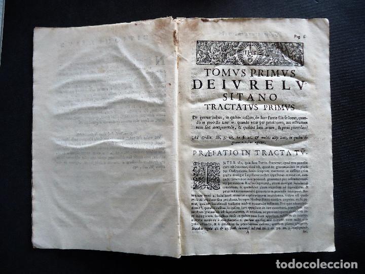 Libros antiguos: PORTUGAL.COIMBRA.DE IVRE LVSITANO TOMVS PRIMVS IN TRES..MATHEO HOMEM LEITAM OLIM.1675 - Foto 9 - 195295208