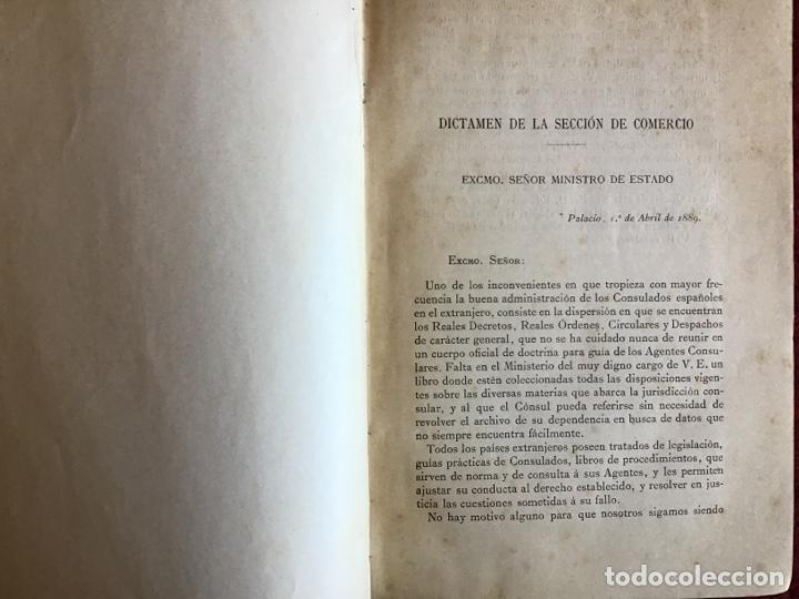 Libros antiguos: Derecho Consular de España. Eduardo Toda y Guell. 1889 - Foto 2 - 195300952