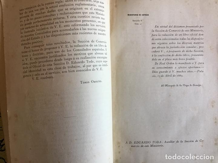 Libros antiguos: Derecho Consular de España. Eduardo Toda y Guell. 1889 - Foto 3 - 195300952