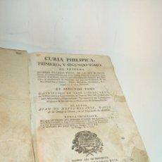 Libros antiguos: CURIA PHILÍPICA, PRIMERO Y SEGUNDO TOMO. JUAN DE HEVIA BOLAÑOS. MADRID. 1747. OFIC. RAMÓN RUIZ.. Lote 195308126