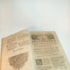 Libros antiguos: DE LA POLÍTICA PARA CORREGIDORES, SEÑORES VASSALLOS,REGIDORES, PESQUISIDORES Y PARA JUECES.. 1650.. Lote 195309650