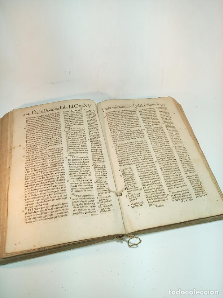 Libros antiguos: De la política para corregidores, señores vassallos,regidores, pesquisidores y para jueces.. 1650. - Foto 5 - 195309650