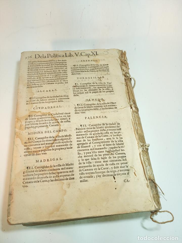 Libros antiguos: De la política para corregidores, señores vassallos,regidores, pesquisidores y para jueces.. 1650. - Foto 7 - 195309650