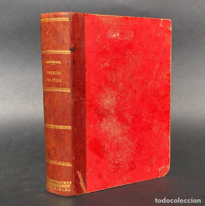 1883 CURSO DE DERECHO POLÍTICO - VICENTE SANTAMARÍA DE PAREDES (Libros Antiguos, Raros y Curiosos - Ciencias, Manuales y Oficios - Derecho, Economía y Comercio)