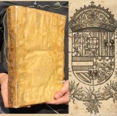 Libros antiguos: 1593 DE EXEQUENDIS MANDATIS REGUM HISPANAE - NUÑEZ DE AVENDAÑO - DERECHO - PERGAMINO - FOLIO. Lote 195363776