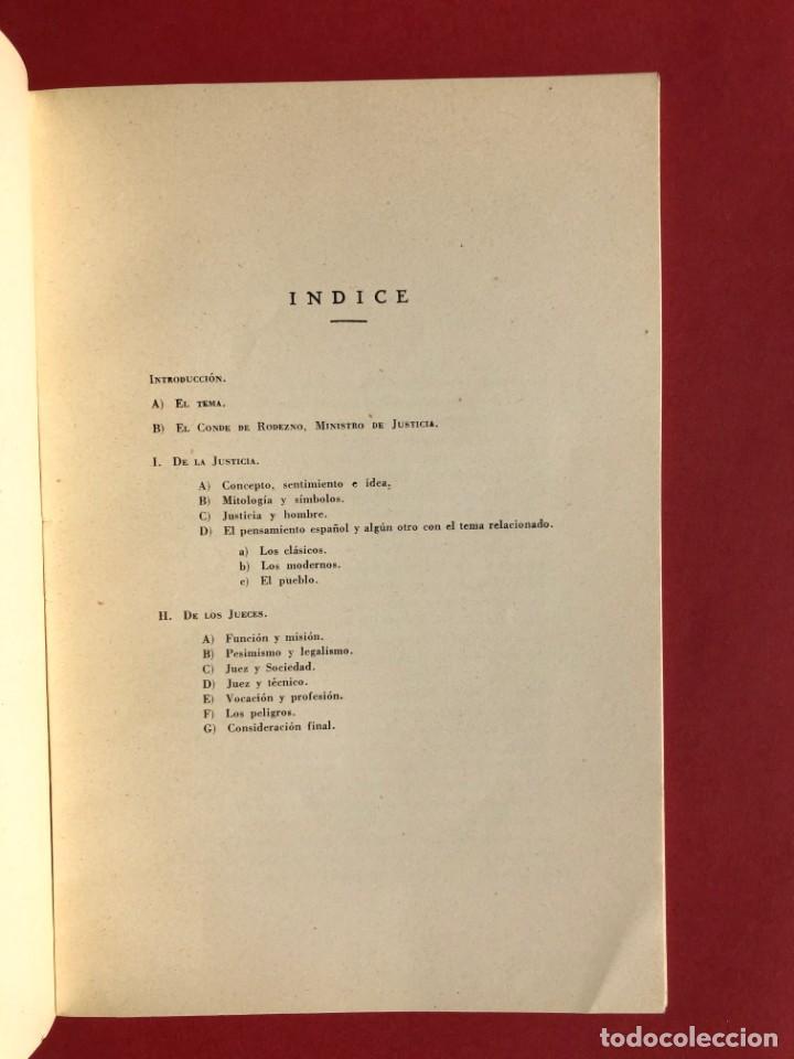 Libros antiguos: DE LA JUSTICIA Y DE LOS JUECES - Baracaldo - Vizcaya - Antonio Iturmendi Bañales - Derecho - Foto 4 - 195369641