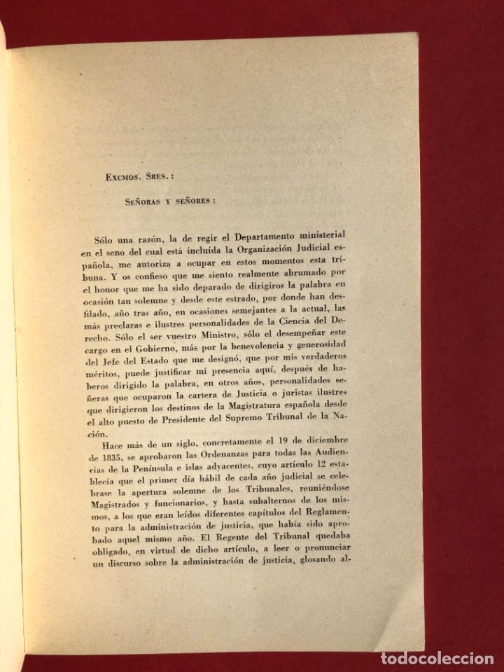 Libros antiguos: DE LA JUSTICIA Y DE LOS JUECES - Baracaldo - Vizcaya - Antonio Iturmendi Bañales - Derecho - Foto 5 - 195369641