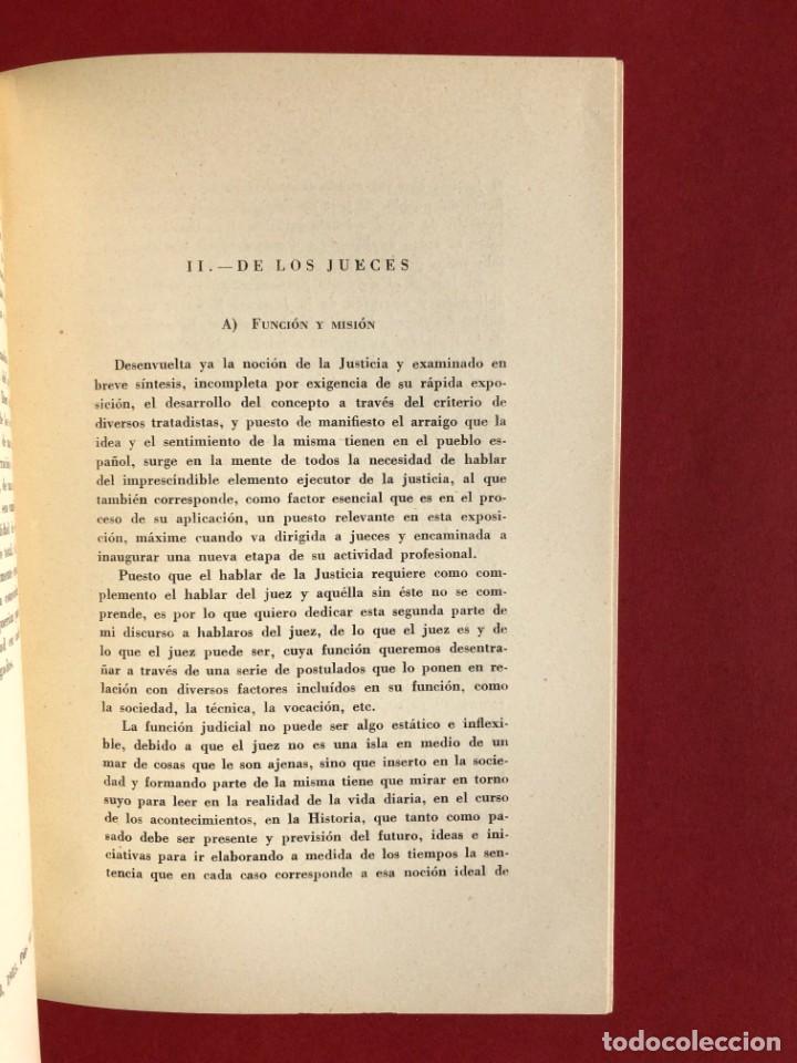 Libros antiguos: DE LA JUSTICIA Y DE LOS JUECES - Baracaldo - Vizcaya - Antonio Iturmendi Bañales - Derecho - Foto 6 - 195369641