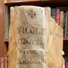 Libros antiguos: FLOSCULI SIVE NOTABILIA PRACTICA - JERONIMO NICOLIO ROMANO. Lote 195385126
