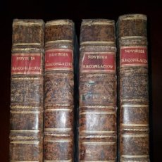 Libros antiguos: NOVÍSIMA RECOPILACIÓN DE LAS LEYES DE ESPAÑA - 12 LIBROS MÁS 3 ÍNDICES EN 4 TOMOS - 1805. Lote 195513686