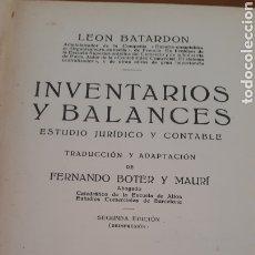 Libros antiguos: INVENTARIOS Y BALANCES EDITORIAL LABOR, S. A. 1933 SEGUNDA EDICIÓN. Lote 195634908