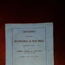 Libros antiguos: CATÁLOGO DE MATERIAS DEL PROCEDIMIENTO CIVIL RESPECTO A LA JURISDICCIÓN ORDINARIA - 1853. Lote 197234380