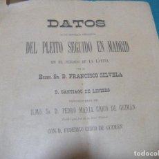 Libros antiguos: PLEITO FRANCISCO SILVELLA CON FEDERICO CHICO DE GUZMAN. BULLAS MURCIA. Lote 198285685
