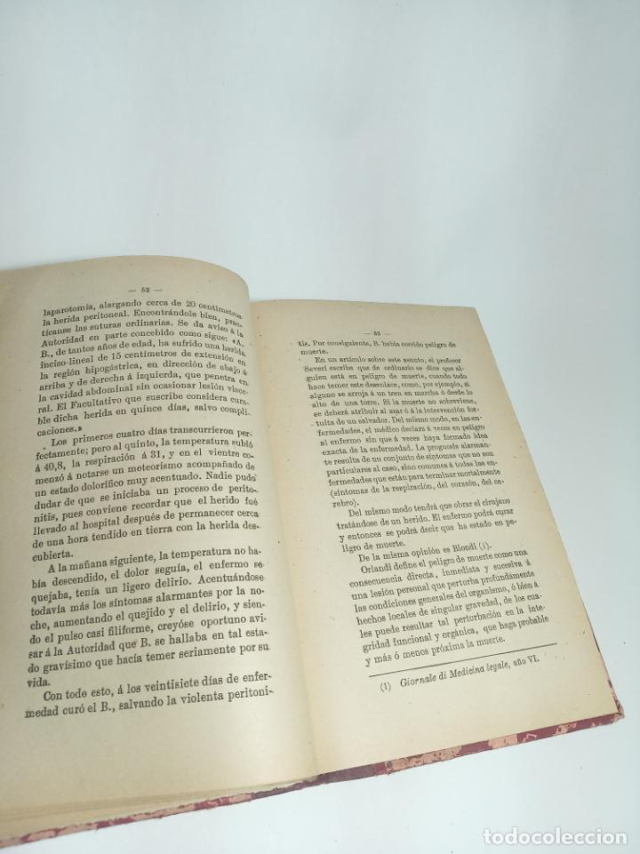Libros antiguos: El delito de lesiones. Francisco Pujia. Con apéndice de legislación y jurisprudencia. 1902. Madrid. - Foto 3 - 198372807