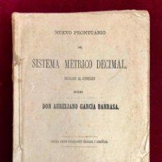 Libros antiguos: PRONTUARIO DEL SISTEMA MÉTRICO DEDICADO AL COMERCIO - AURELIANO GARCÍA BARRASA, VALLADOLID 1878. Lote 198990412