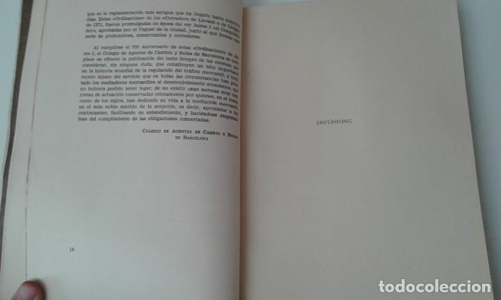 Libros antiguos: Ordinacions de los mediadores mercantiles de Barcelona tirada numerada de 100 ejemplares pergamino - Foto 6 - 114962423