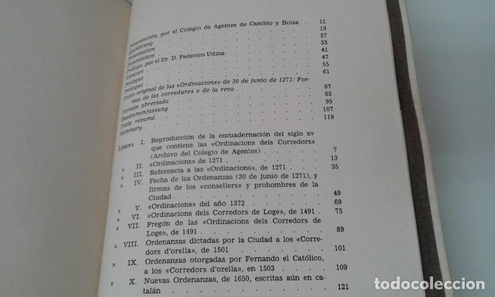 Libros antiguos: Ordinacions de los mediadores mercantiles de Barcelona tirada numerada de 100 ejemplares pergamino - Foto 10 - 114962423