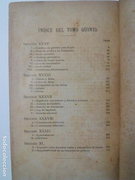 Libros antiguos: EL ABOGADO POPULAR DERECHO LEYES CONSULTAS PRACTICAS 1905 - Foto 12 - 199624891