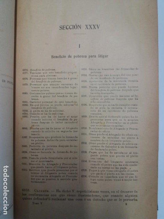 Libros antiguos: EL ABOGADO POPULAR DERECHO LEYES CONSULTAS PRACTICAS 1905 - Foto 13 - 199624891