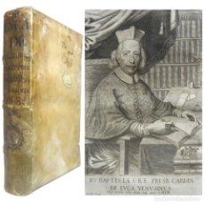 Livros antigos: 1684 - DE LUCA - COMMENTARIA AD CONSTITUTIONEM INNOCENTII XI - DERECHO - PERGAMINO - FOLIO - 32 CM.. Lote 200017136