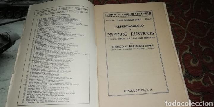 Libros antiguos: Catecismo del agricultor y del ganadero. Arrendamiento de precios rústicos 8, Espasa Calpe 1935. - Foto 2 - 201149908