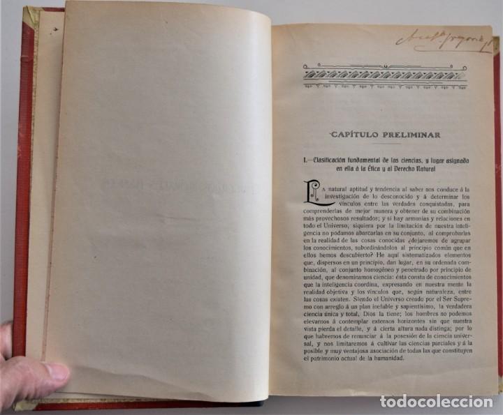 Libros antiguos: DERECHO NATURAL - LUIS MENDIZÁBAL Y MARTÍN - ESTABLECIMIENTO TIPOGRÁFICO LA EDITORIAL, ZARAGOZA 1908 - Foto 5 - 202401153