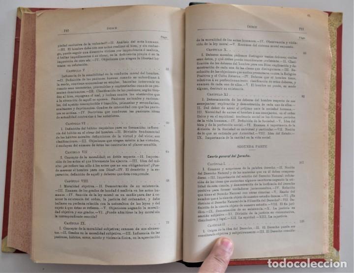 Libros antiguos: DERECHO NATURAL - LUIS MENDIZÁBAL Y MARTÍN - ESTABLECIMIENTO TIPOGRÁFICO LA EDITORIAL, ZARAGOZA 1908 - Foto 7 - 202401153