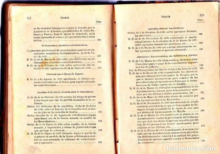 Libros antiguos: PROCEDIMIENTOS LEGALES DE APREMIOS 9ª EDICIÓN. 1887, SEGÚN LA INSTRUCCIÓN DE 20 DE MAYOR DE 1884 - Foto 6 - 202893075