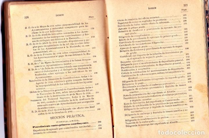 Libros antiguos: PROCEDIMIENTOS LEGALES DE APREMIOS 9ª EDICIÓN. 1887, SEGÚN LA INSTRUCCIÓN DE 20 DE MAYOR DE 1884 - Foto 7 - 202893075