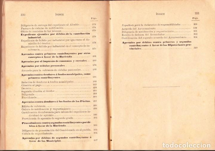 Libros antiguos: PROCEDIMIENTOS LEGALES DE APREMIOS 9ª EDICIÓN. 1887, SEGÚN LA INSTRUCCIÓN DE 20 DE MAYOR DE 1884 - Foto 9 - 202893075