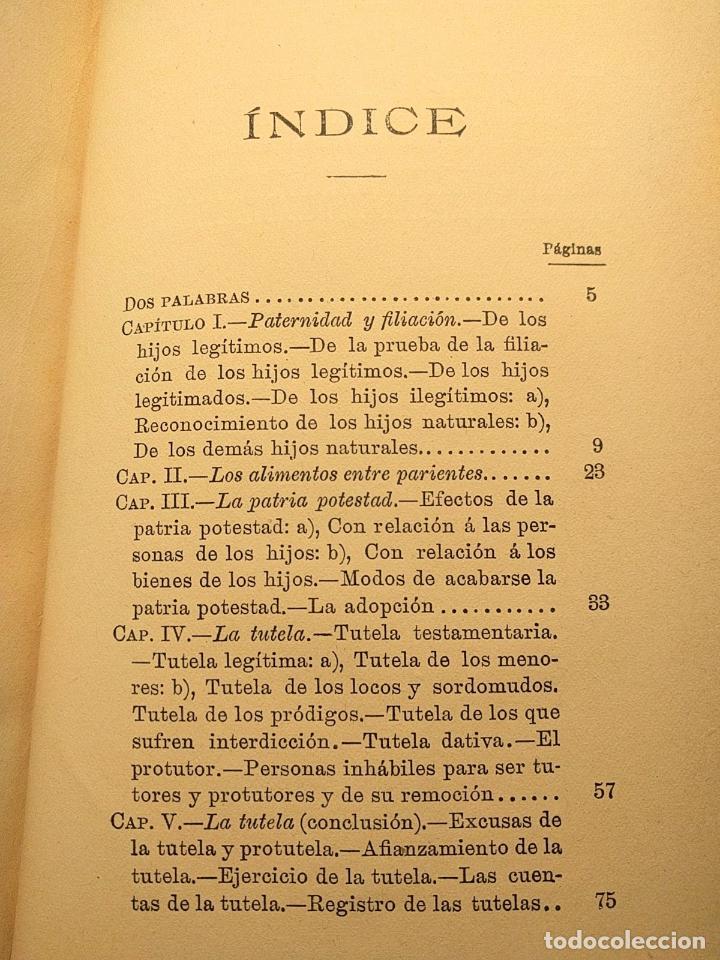 Libros antiguos: El matrimonio. La familia según el derecho vigente. Gabriel R. España. Madrid. 1895 h. 2 vols. - Foto 5 - 203296067