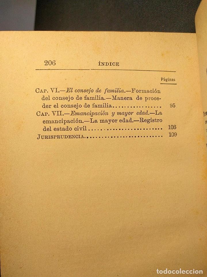 Libros antiguos: El matrimonio. La familia según el derecho vigente. Gabriel R. España. Madrid. 1895 h. 2 vols. - Foto 6 - 203296067