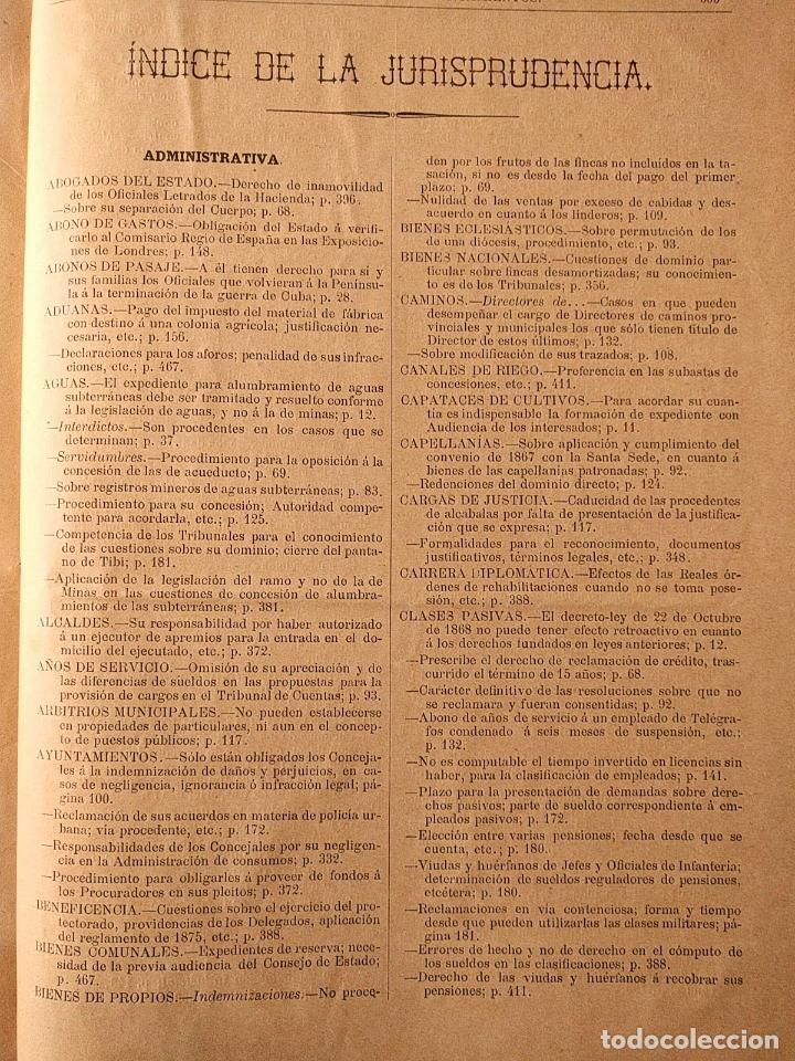Libros antiguos: El consultor de los ayuntamientos y de los juzgados municipales. Año 34º 1886. Fermín Abella. - Foto 9 - 203296737