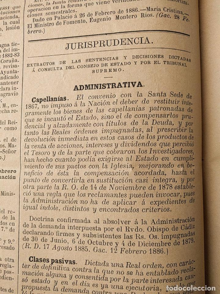 Libros antiguos: El consultor de los ayuntamientos y de los juzgados municipales. Año 34º 1886. Fermín Abella. - Foto 10 - 203296737