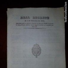 Libros antiguos: REAL DECRETO REFORMANDO LA CONTRIBUCIÓN INDUSTRIAL Y DE COMERCIO - 1847. Lote 203939243