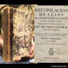 Livres anciens: 1791 - LEYES DE LOS REINOS DE LAS INDIAS - ARMADA - FLOTA - EJERCITO - REAL AUDIENCIA DE SEVILLA. Lote 204265163