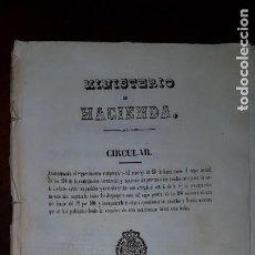 Libros antiguos: MINISTERIO DE HACIENDA - CIRCULAR PARA LA COBRANZA DE LA NUEVA CONTRIBUCIÓN - 1849. Lote 204615928