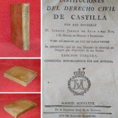 Libros antiguos: AÑO 1780 - DERECHO CIVIL DE CASTILLA - CONDENAS A GALERAS, A MINAS, A MUERTE, AZOTES - APASIONANTE. Lote 204682605