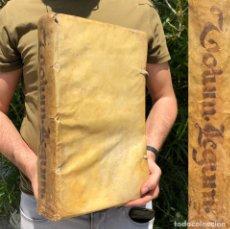 Livres anciens: AÑO 1618 - VOLUMEN LEGUM - DERECHO ROMANO - CODICE JUSTINIANO - PERGAMINO - FOLIO. Lote 204986201